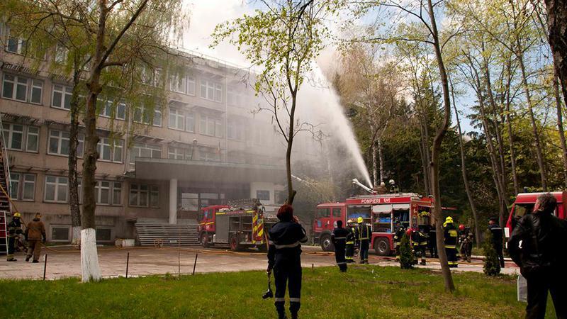 incendiu Telecentru2 | Sursa: NADEJDA ROSCOVANU