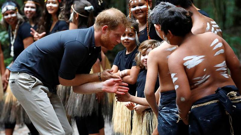Prinţul Harry, întâlnire insulă1 | Sursa: PA