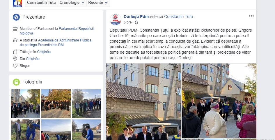 PD Durlești//FACEBOOK