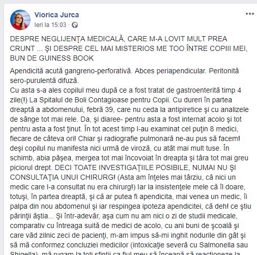 Viorica Jurca//FACEBOOK