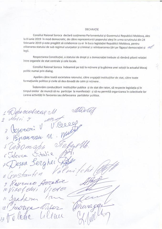Declarație Soroca