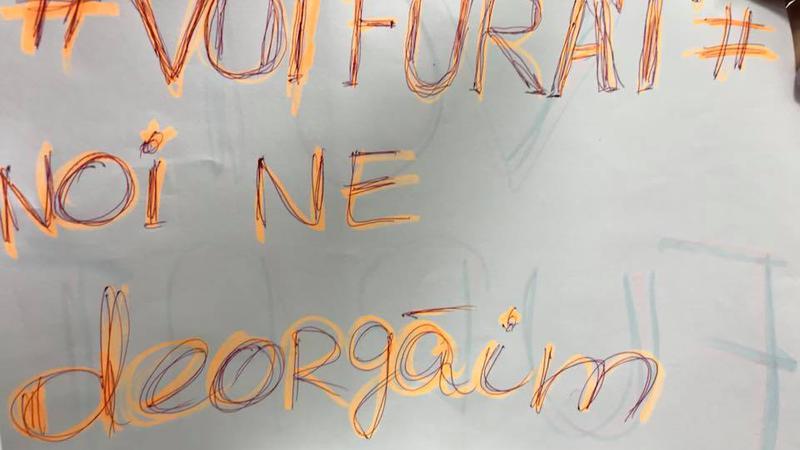 protest la locul de muncă6 | Sursa: Facebook/Taniusha Bulicanu