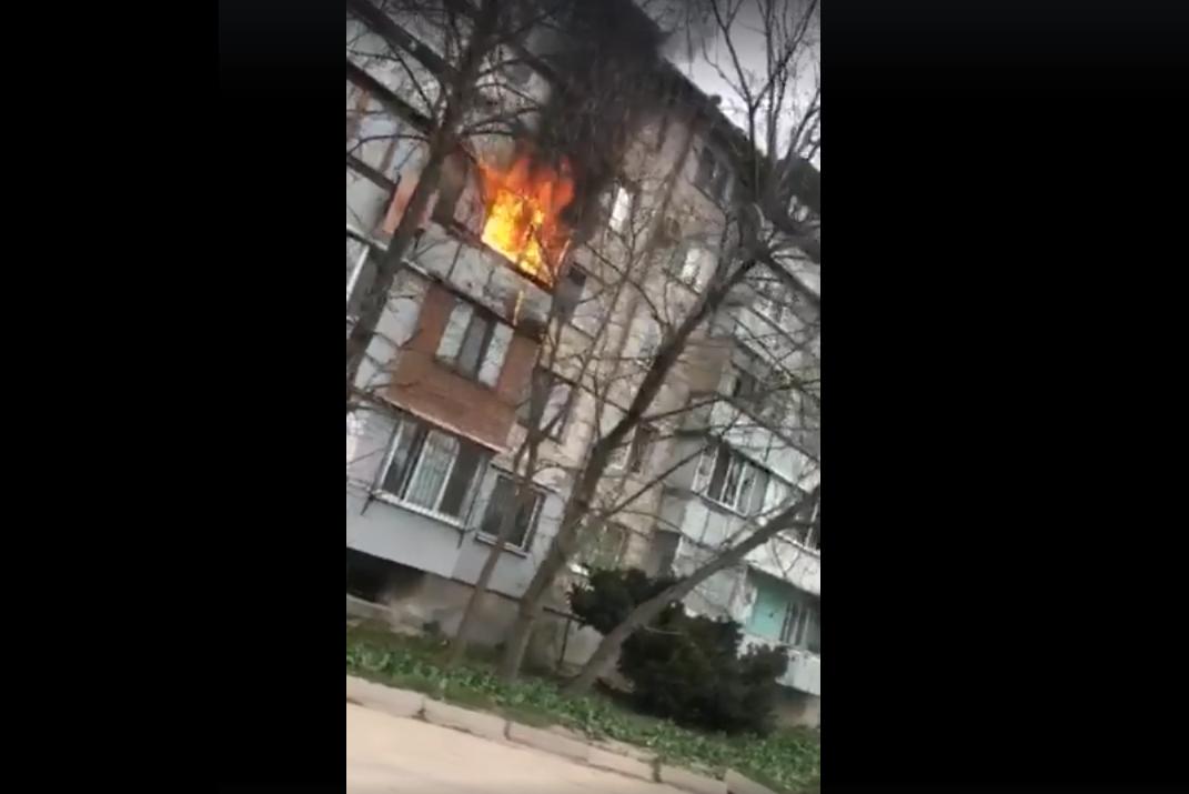 incendiu balcon