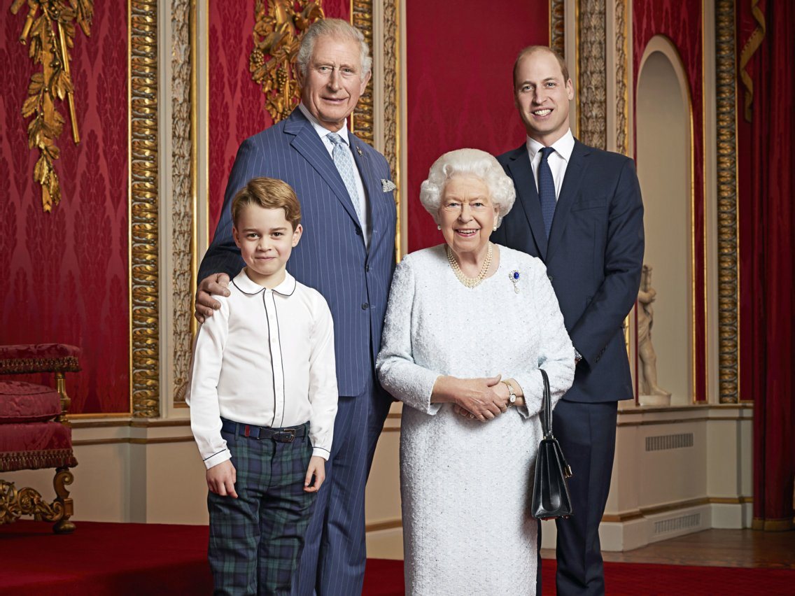 To mark the start of a new decade, a portrait has been released of Her Majesty The Queen and Their Royal Highnesses The Prince of Wales, The Duke of Cambridge and Prince George.