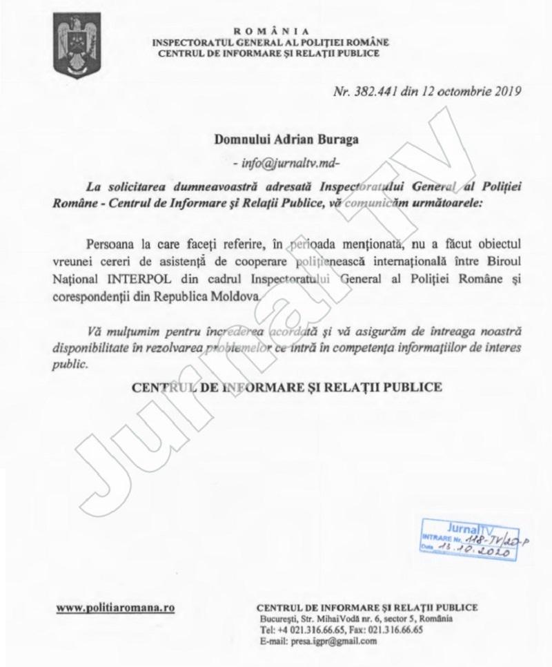 răspuns poliția română