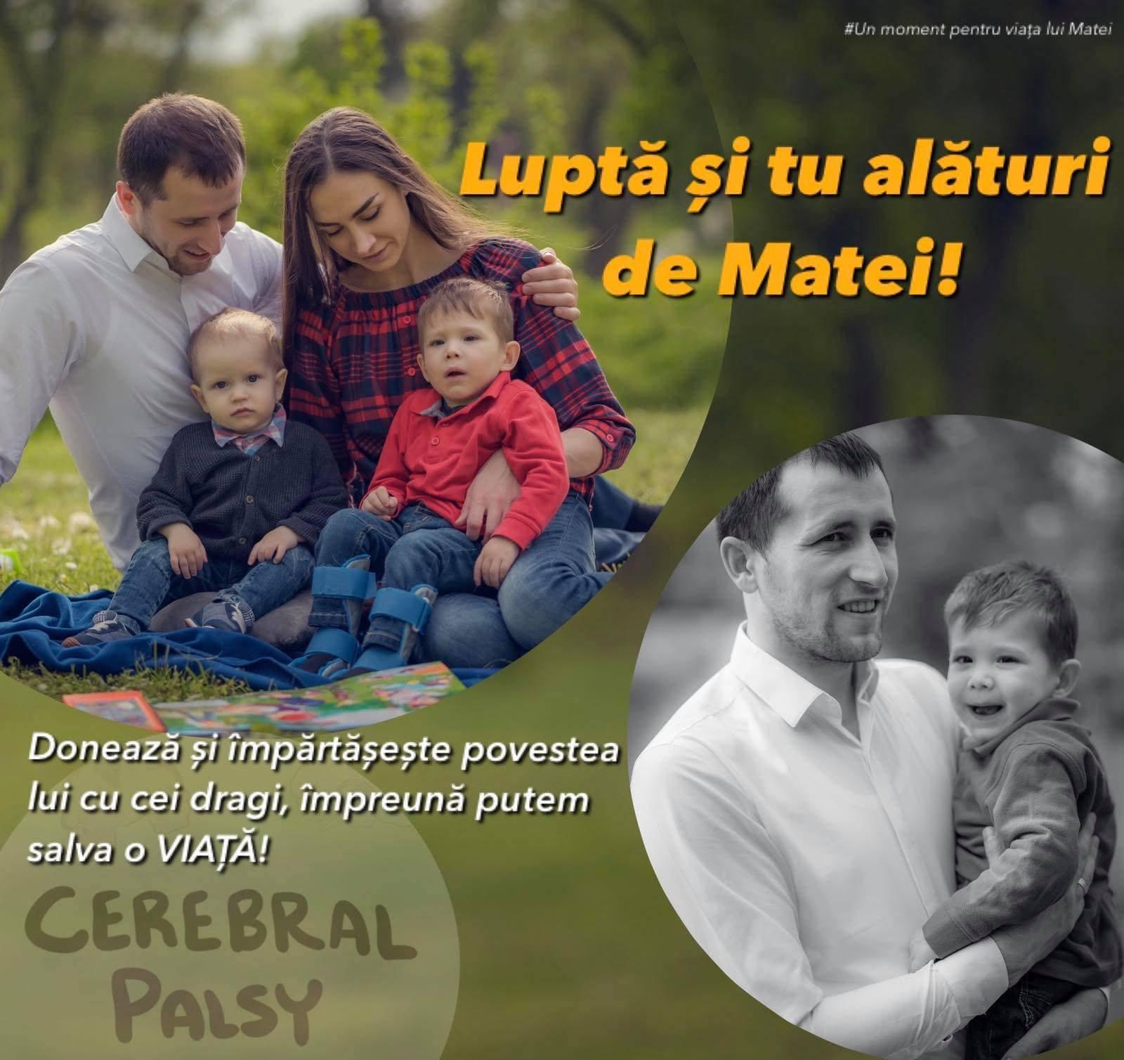 Matei Donici, diagnosticat cu paralizie cerebrală
